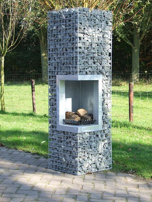 chemin e gabion en angle jardivrac d coration de jardin. Black Bedroom Furniture Sets. Home Design Ideas