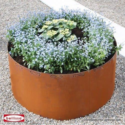Bac à plante Parterre circulaire Corten