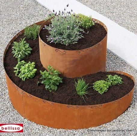 bac à plante Spirale Corten