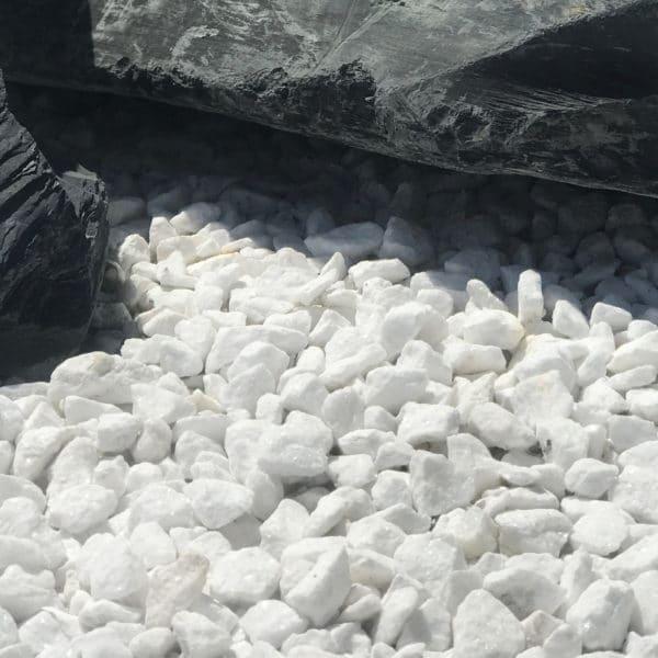 Gravillon Blanc Glacier Concassé