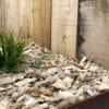 Plaquette forestière pour jardin