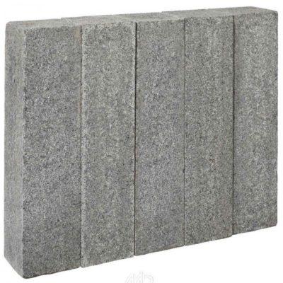 Palissade granit scié gris foncé