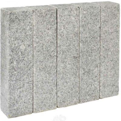 Palissade granit scié gris blanc
