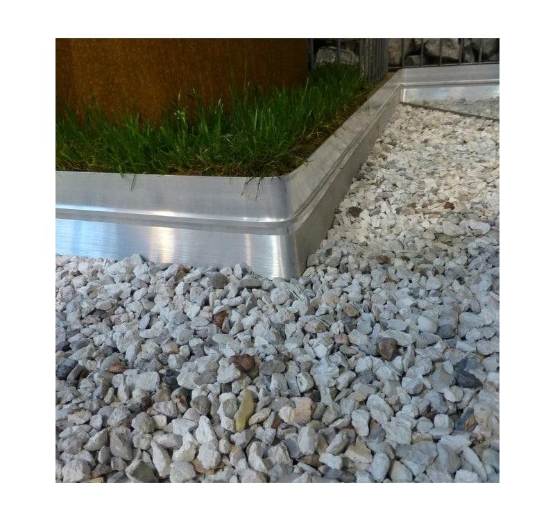 BORDURE BORDALU Aluminium Brut - Jardivrac - Décoration extérieur