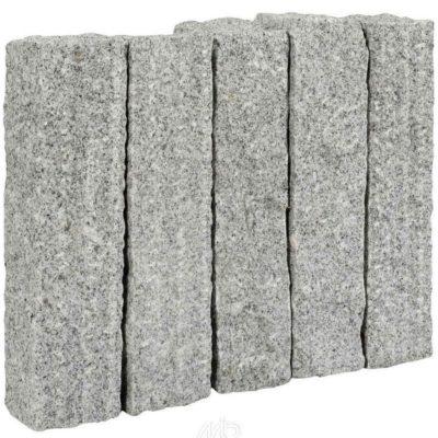 Palissade granit brut gris blanc