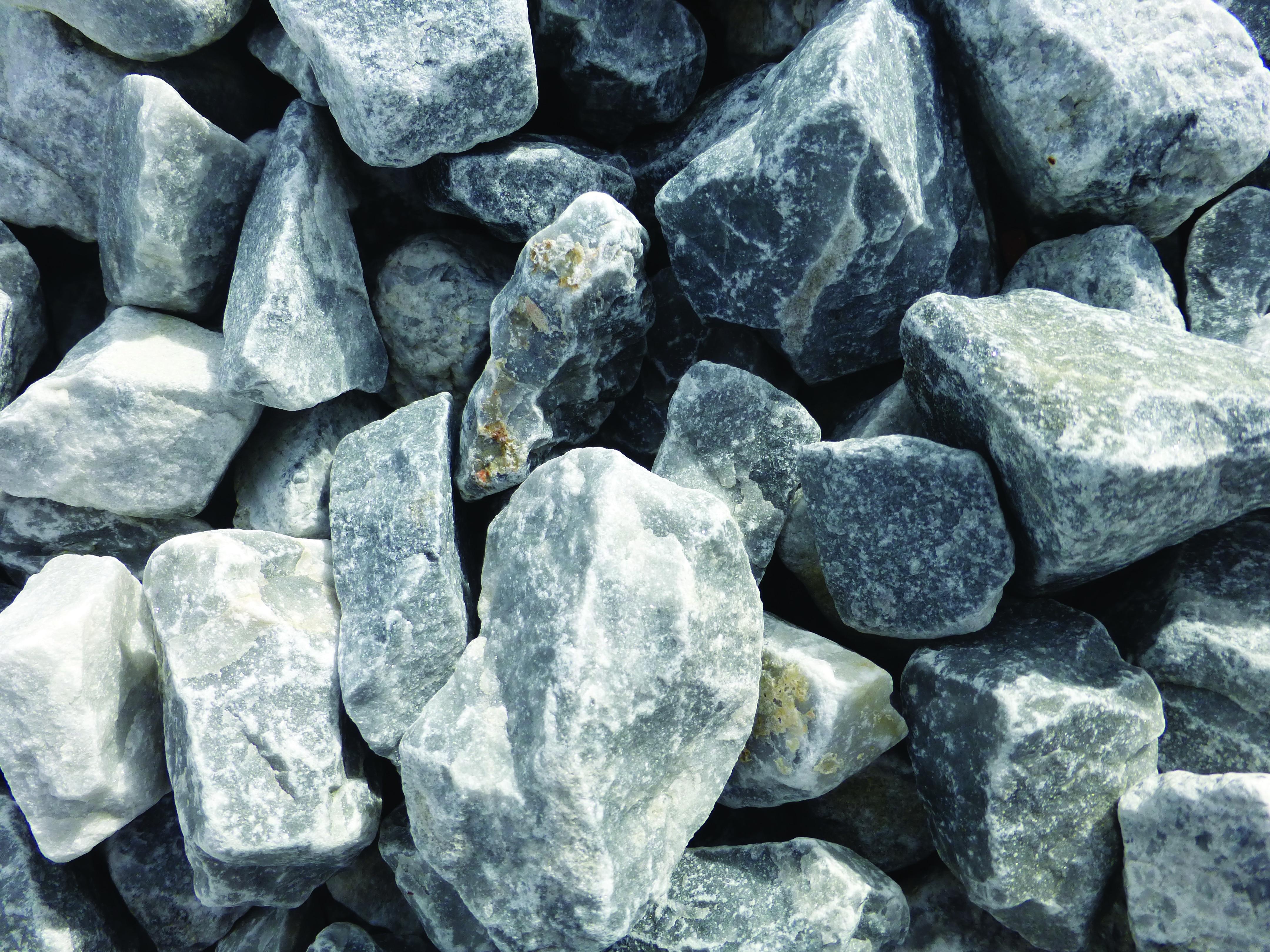 pierre concassée bleue glace