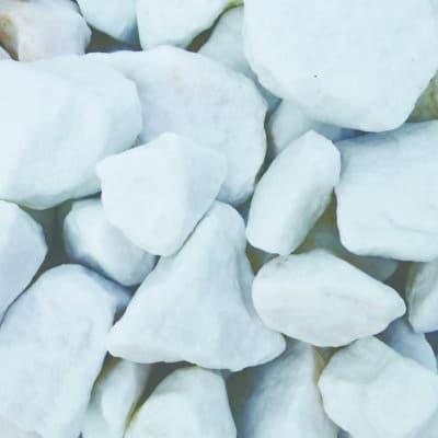 Pierre concassée blanc glacier