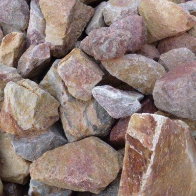 pierre à gabion flammé