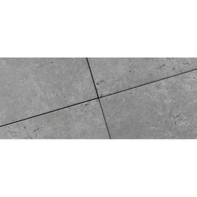 Dalle céramique grise Travertino Romano Grigio