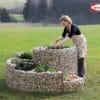 Gabion spirale jardin