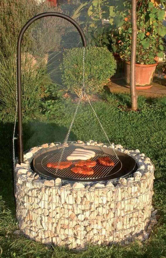 barbecue gabion circulaire