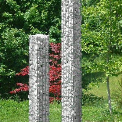 colonne carrée gabion
