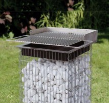 barbecue gabion carré