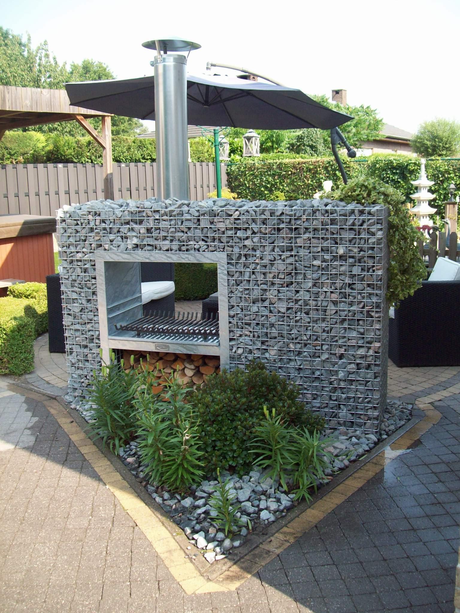 Barbecue gabion rectangle jardivrac d coration pour le jardin - Decoration jardin barbecue ...