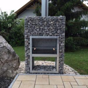 Barbecue gabion bloc
