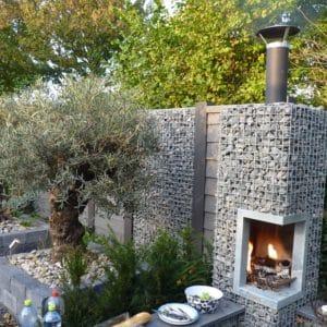 Barbecue pierre à gabion