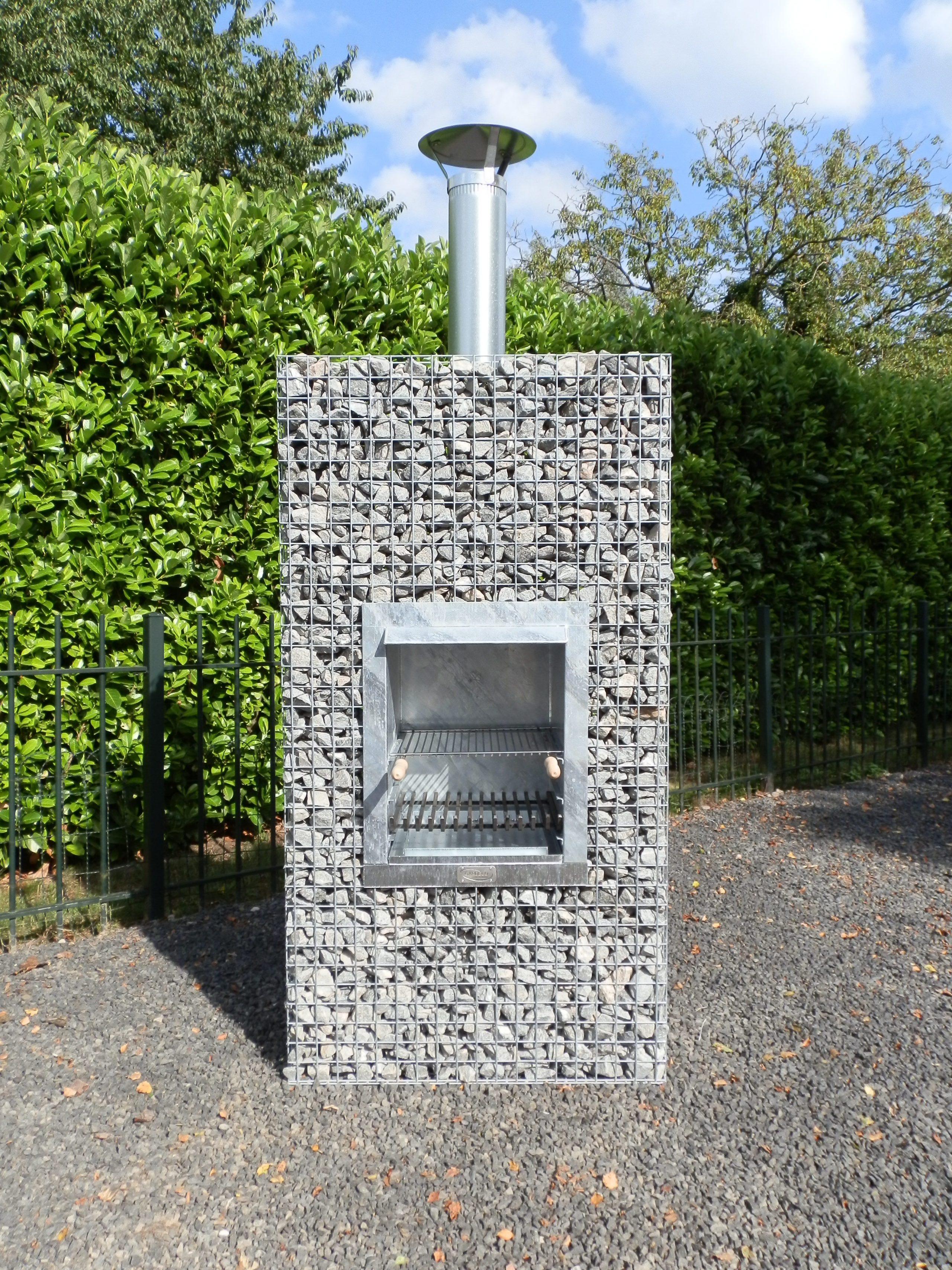 Barbecue En Pierre De Parement barbecue gabion colonne