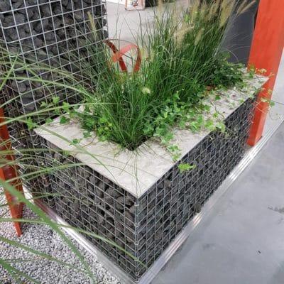 Jardinière gabion