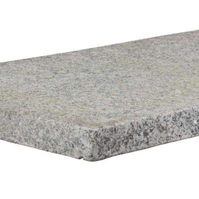 Couvre mur en granit gris blanc avec goutte d'eau