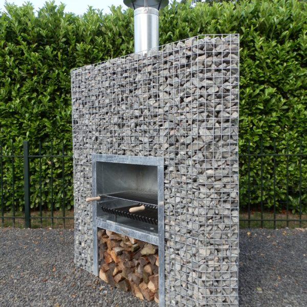 Barbecue Gabion en Angle