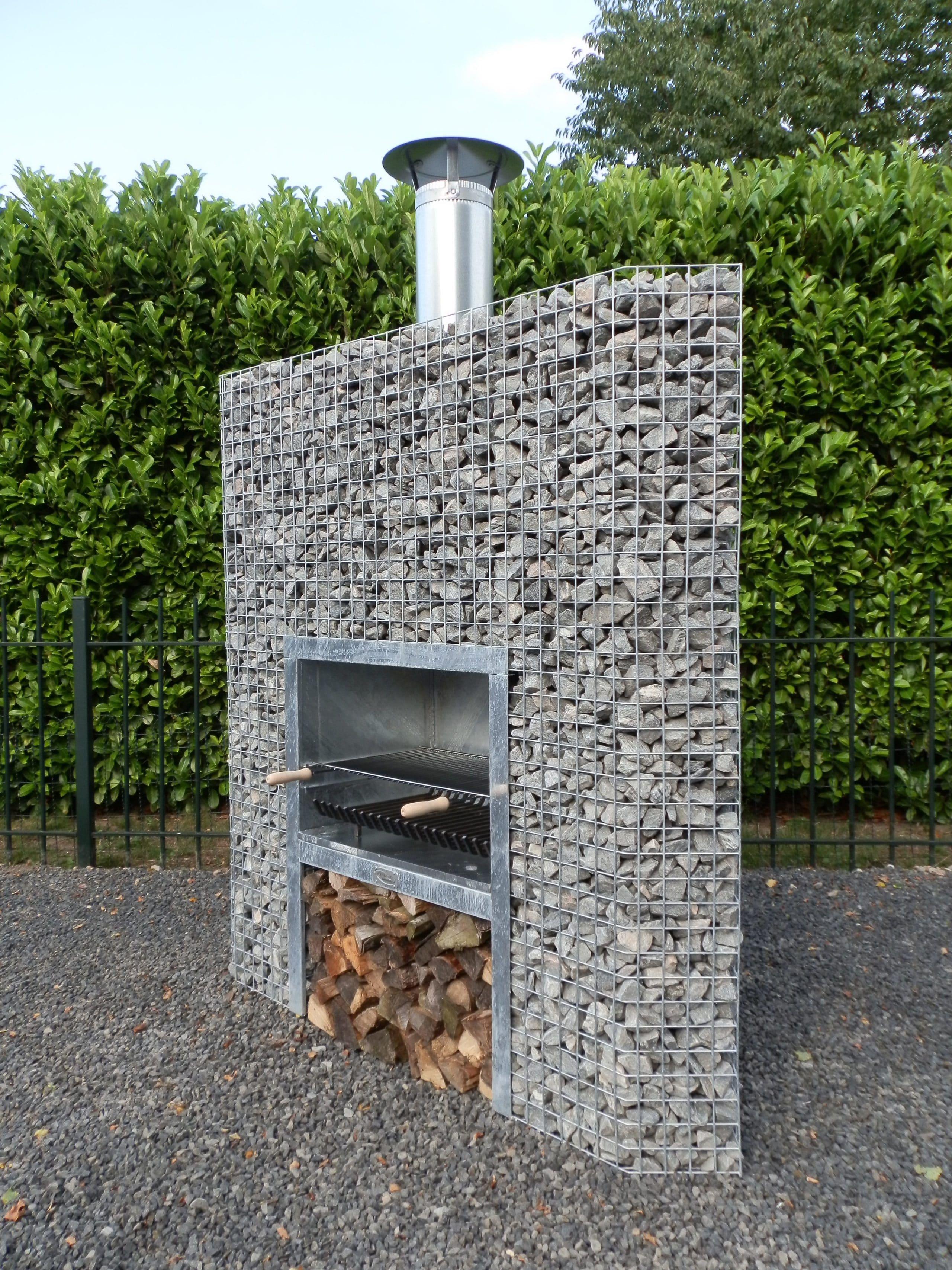 Barbecue En Pierre De Parement barbecue gabion en angle