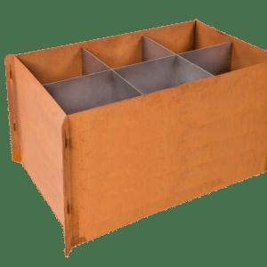 acier corten bac plante corten colonne feu corten. Black Bedroom Furniture Sets. Home Design Ideas