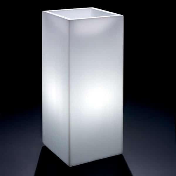 Cache pot carré lumineux COSMOS