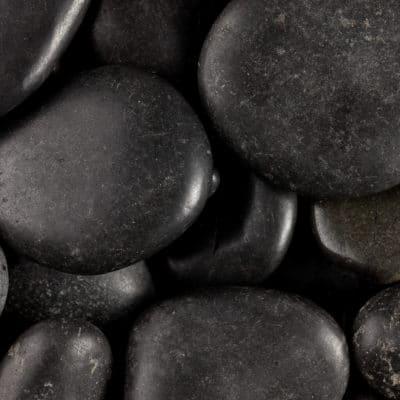 galet noir poli