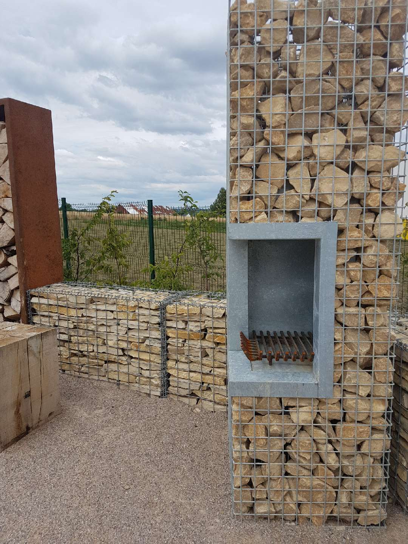Barbecue En Pierre De Parement barbecue gabion - jardivrac