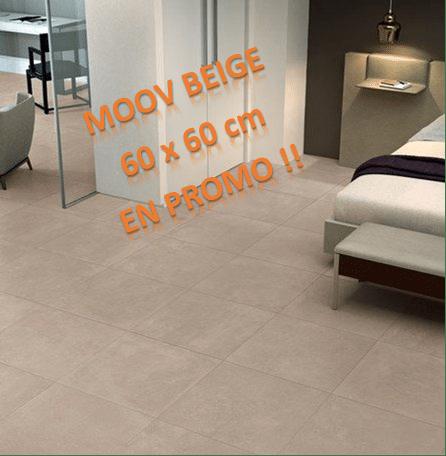 dalle céramique MOOV BEIGE 60x60 cm a