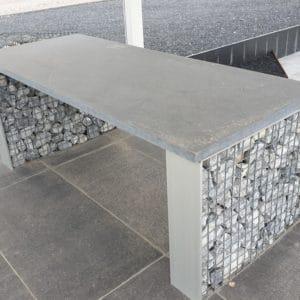 Table gabion pierre