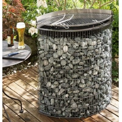 Barbecue gabion ellipse 2