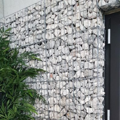 Parement gabion