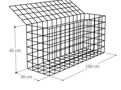 Gabion à monter Gabion 100x30x45 (2), Mur gabion prix au mètre larg 30cm x H 45cm