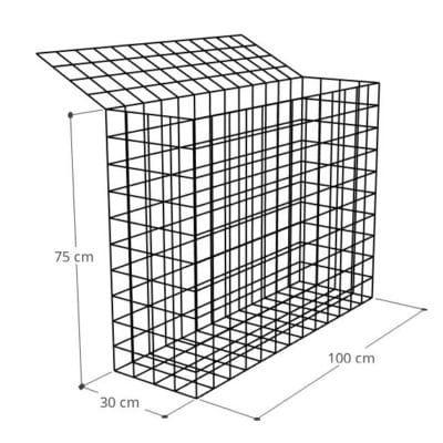 Gabion 100x30x75 (2), Mur gabion prix au mètre larg 30cm x H 75cm