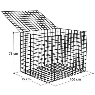 Gabion 100x75x75 (2), Mur gabion prix au mètre larg 75cm x H 75cm