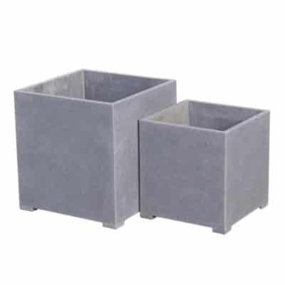Pot carré pierre bleue belge