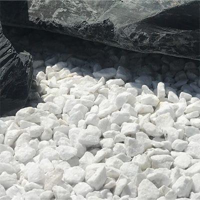 Gravier concassé blanc Madagascar