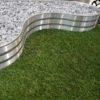 Bordure aluminium brut