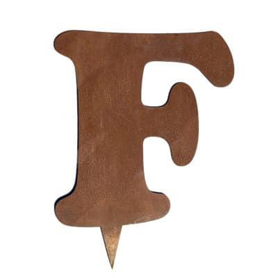 lettre corten F