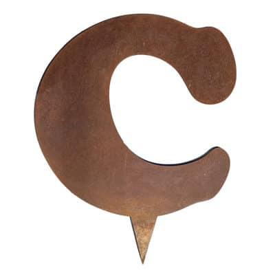 Lettre corten - C