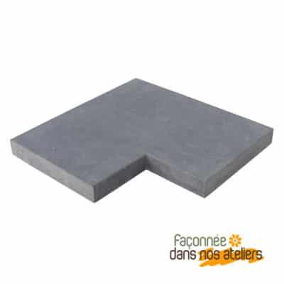 Angle couvre mur pierre bleue du Hainaut