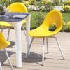 Chaise de jardin inox