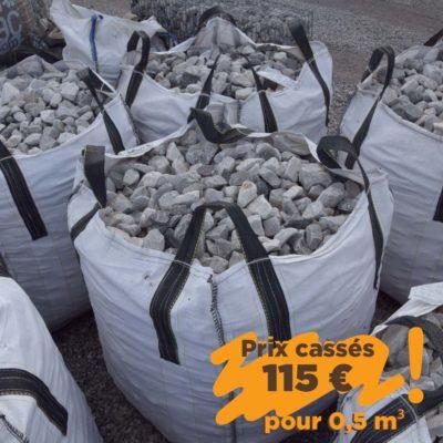 Big-bag pierre grise claire